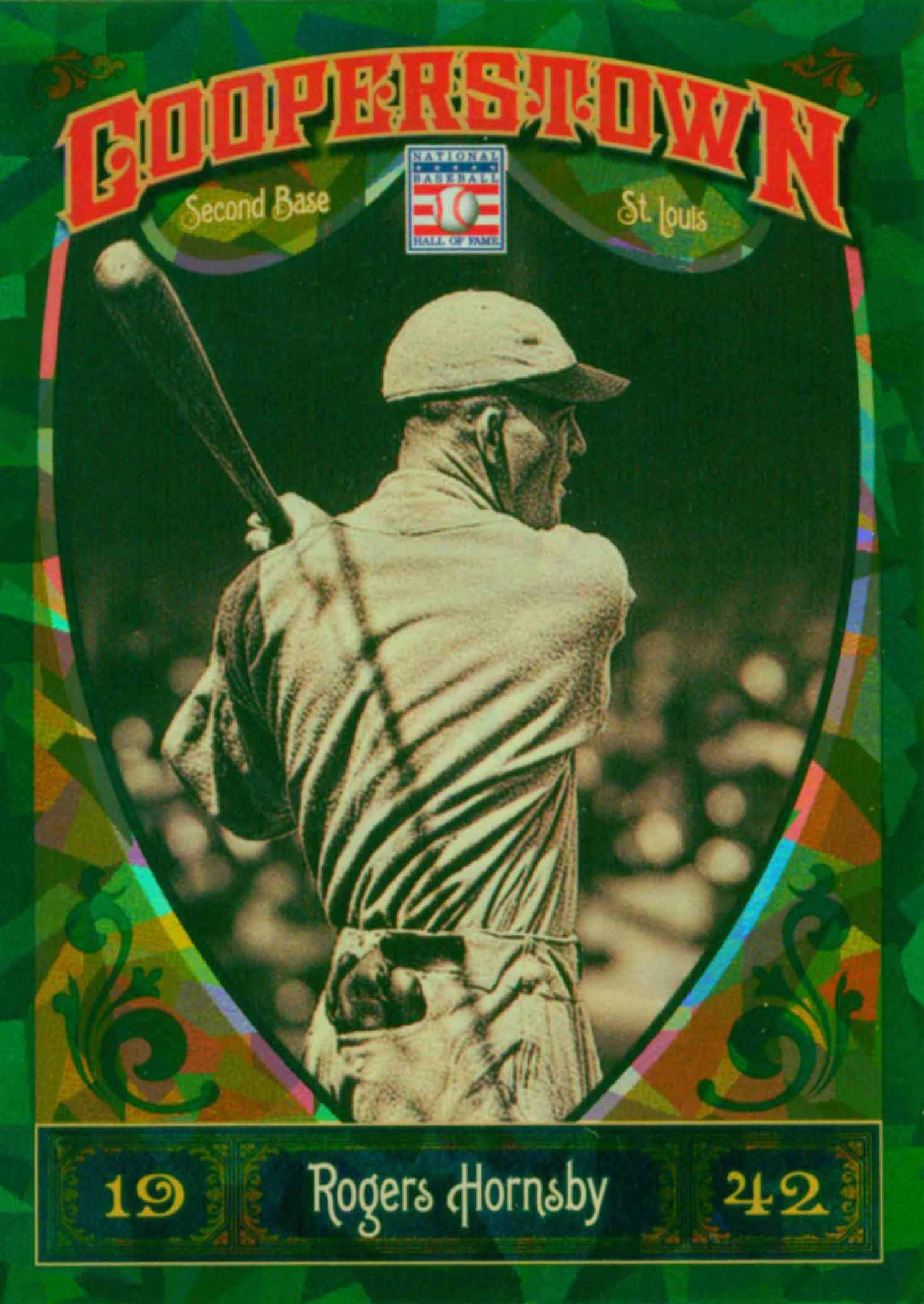 2013 Panini Cooperstown Green Crystal