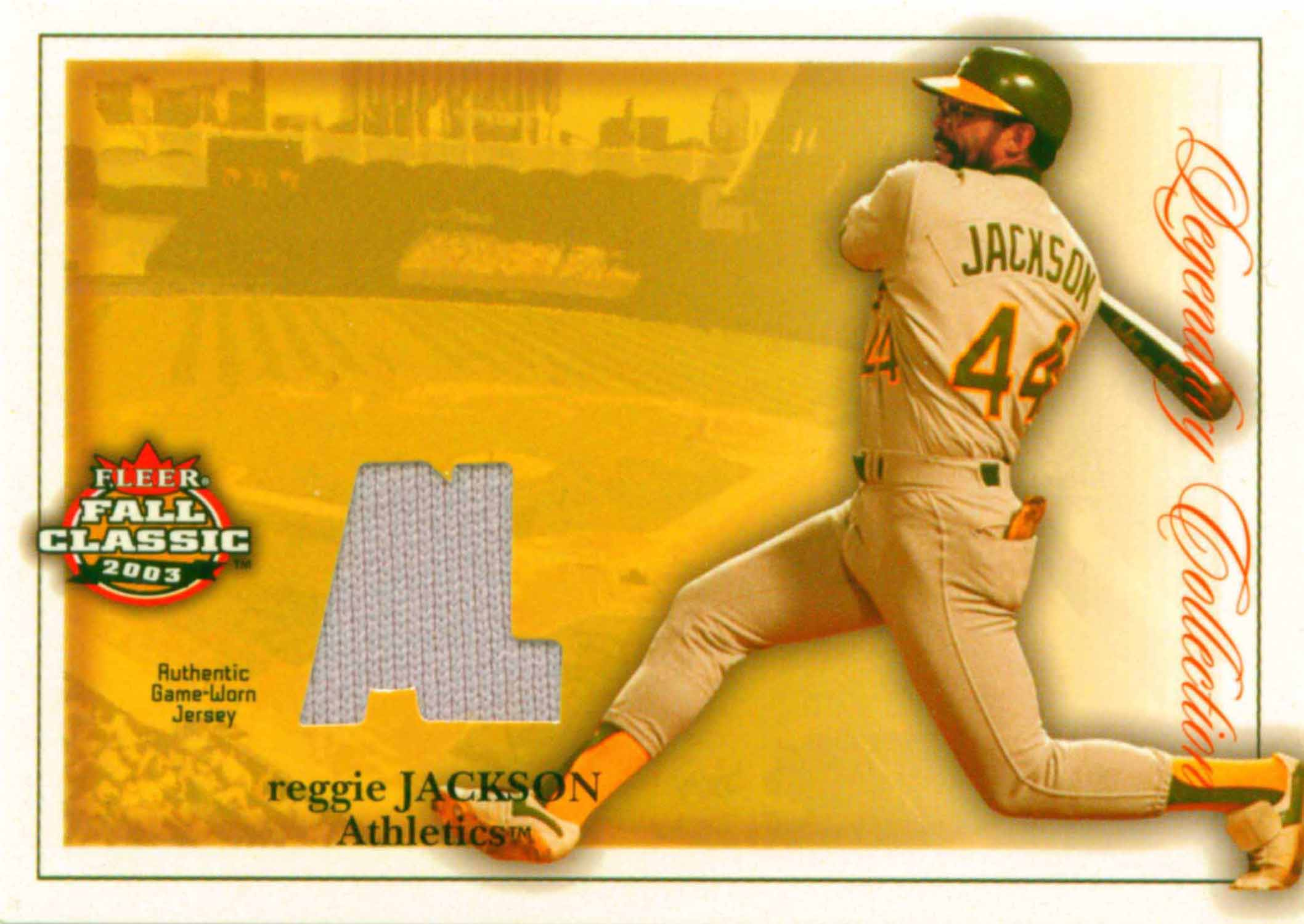 2003 Fleer Fall Classics Legendary Collection Memorabilia Jersey