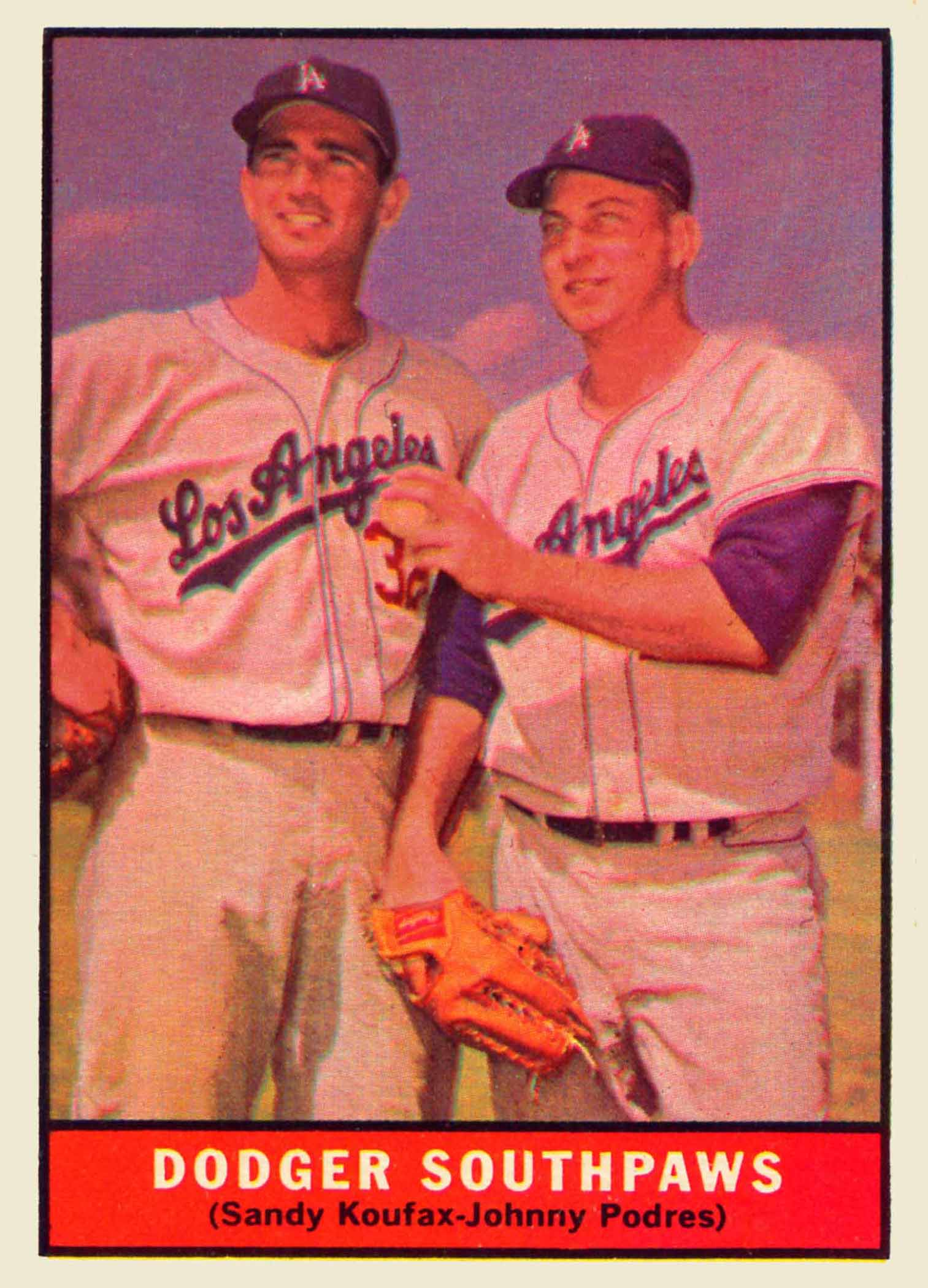 1961 Topps Dodger Southpaws