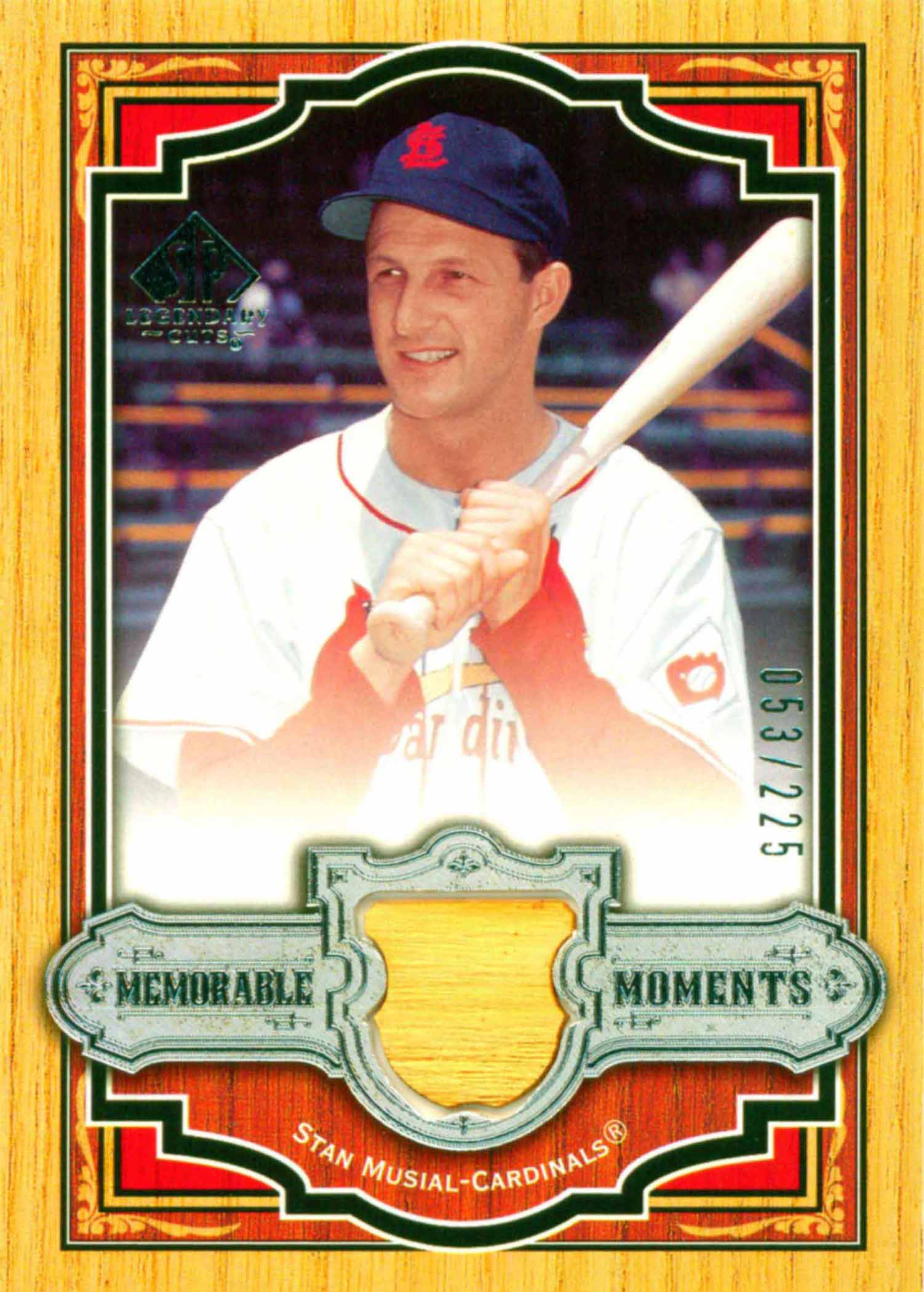 2006 SP Legendary Cuts Memorable Moments Materials Bat