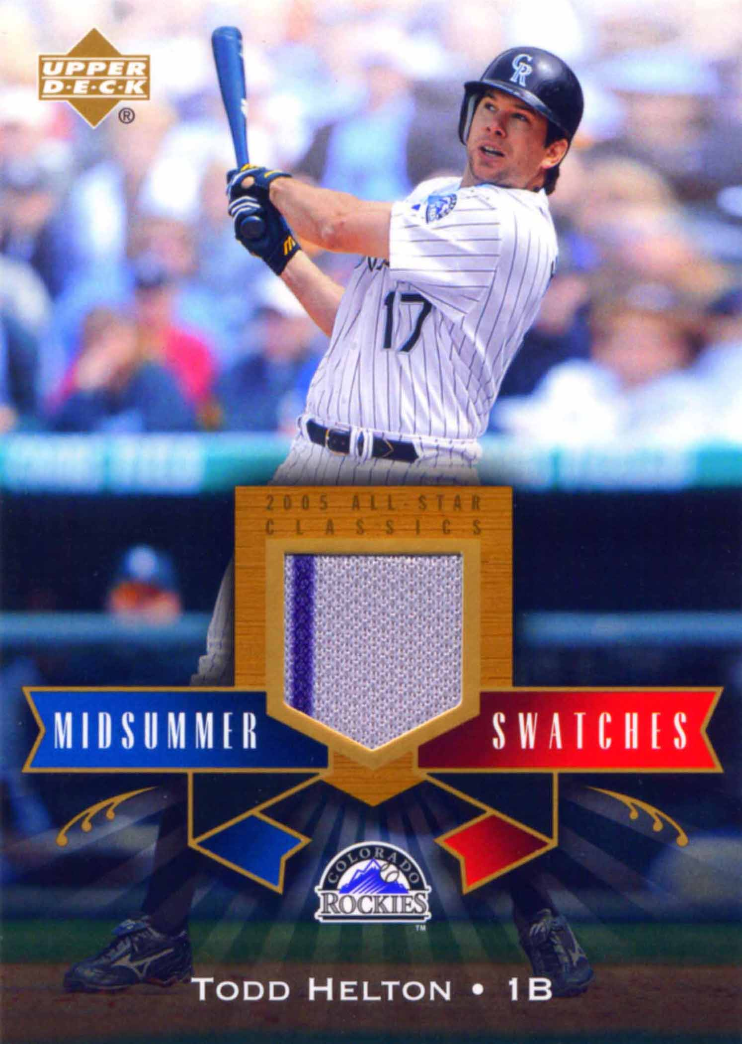 2005 UD All-Star Classics Midsummer Swatches Jersey