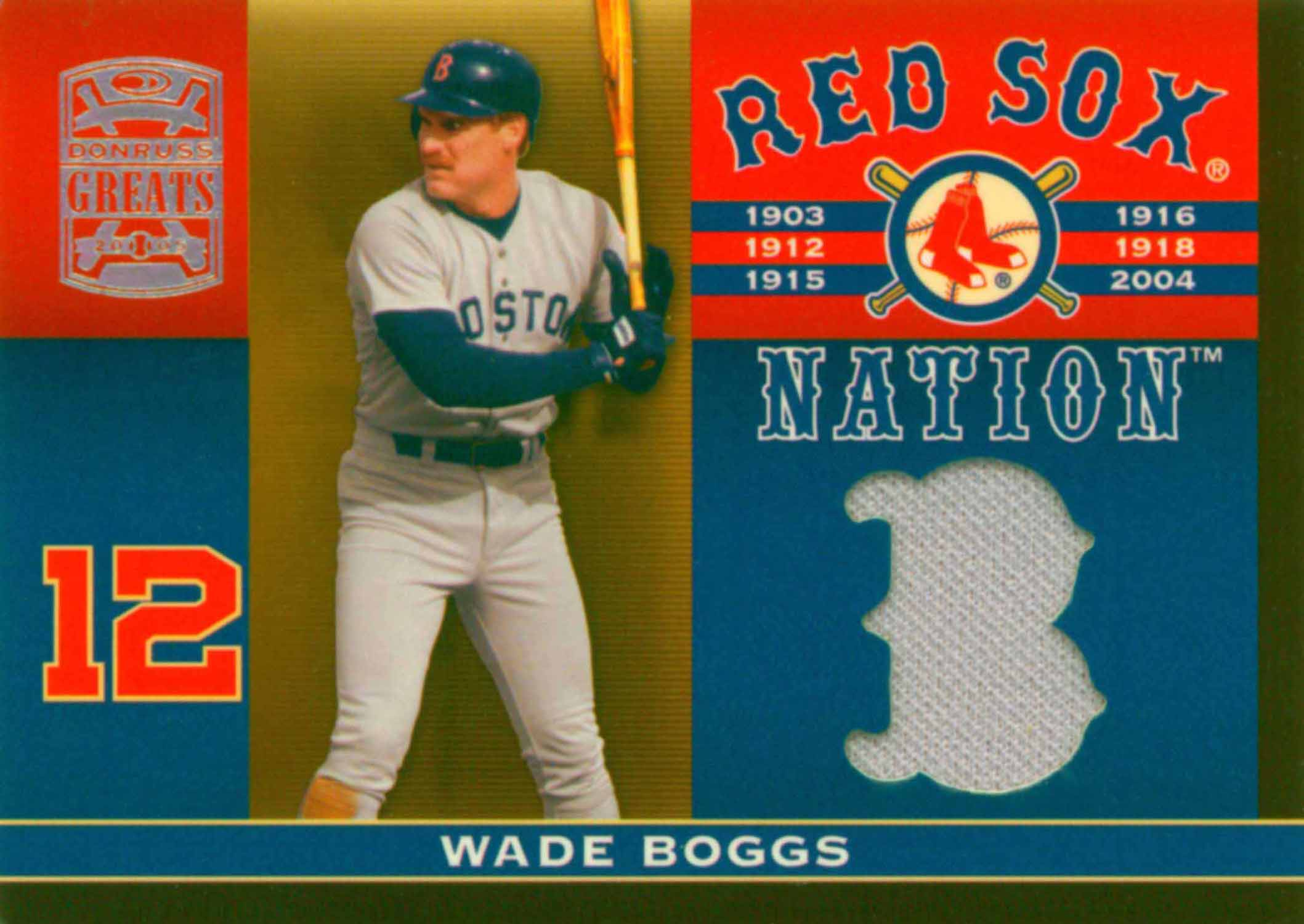 2005 Donruss Greats Sox Nation Material Jersey