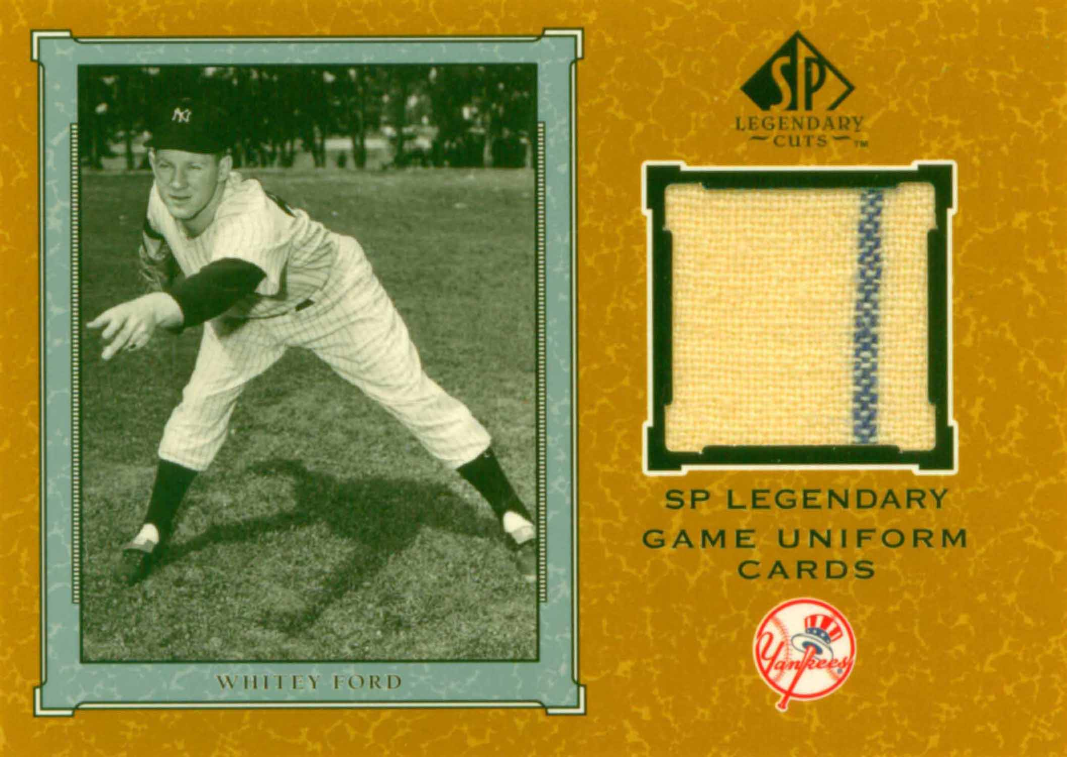 2001 SP Legendary Cuts Game Jersey Uniform