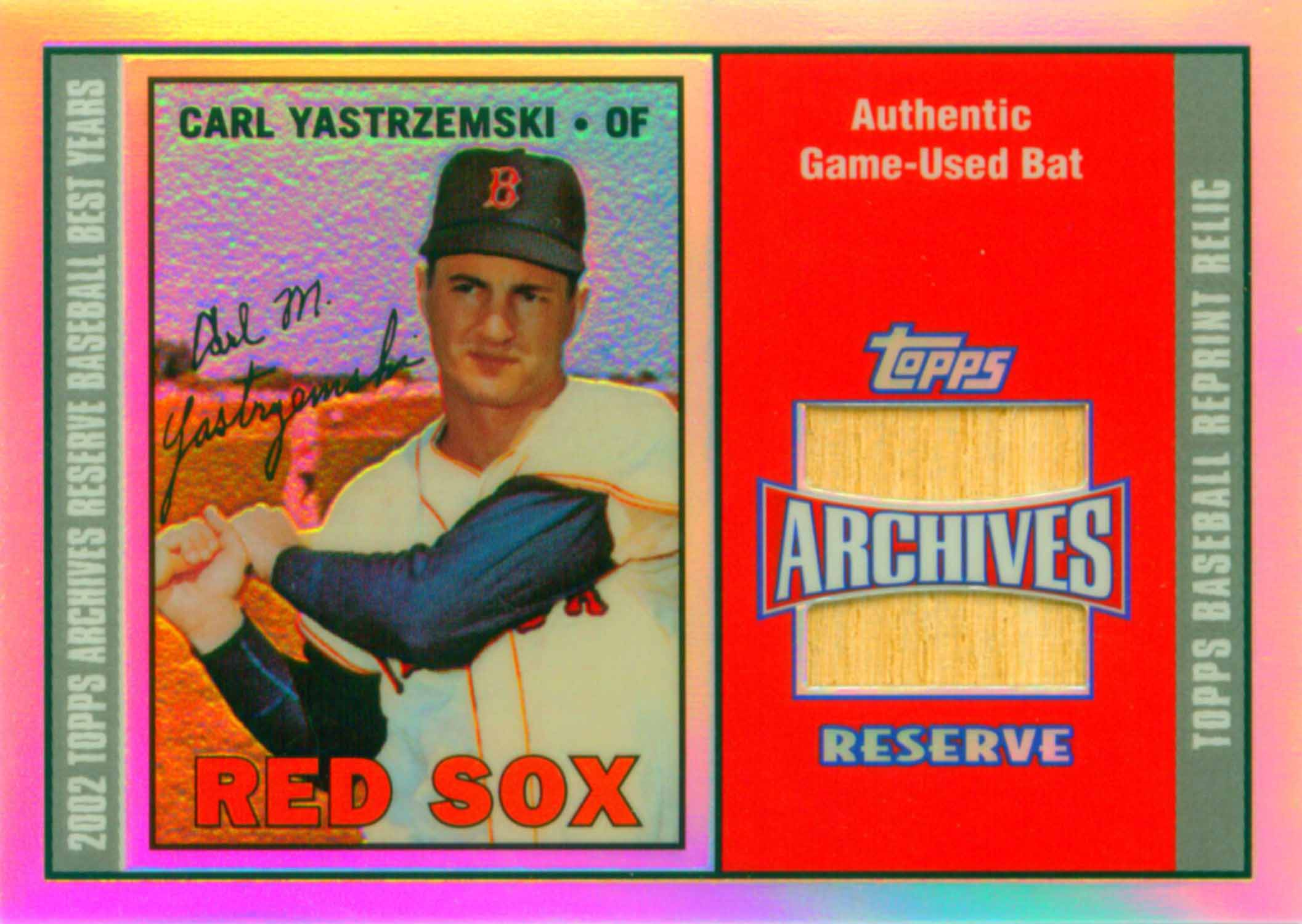 2002 Topps Archives Reserve Bat Relics